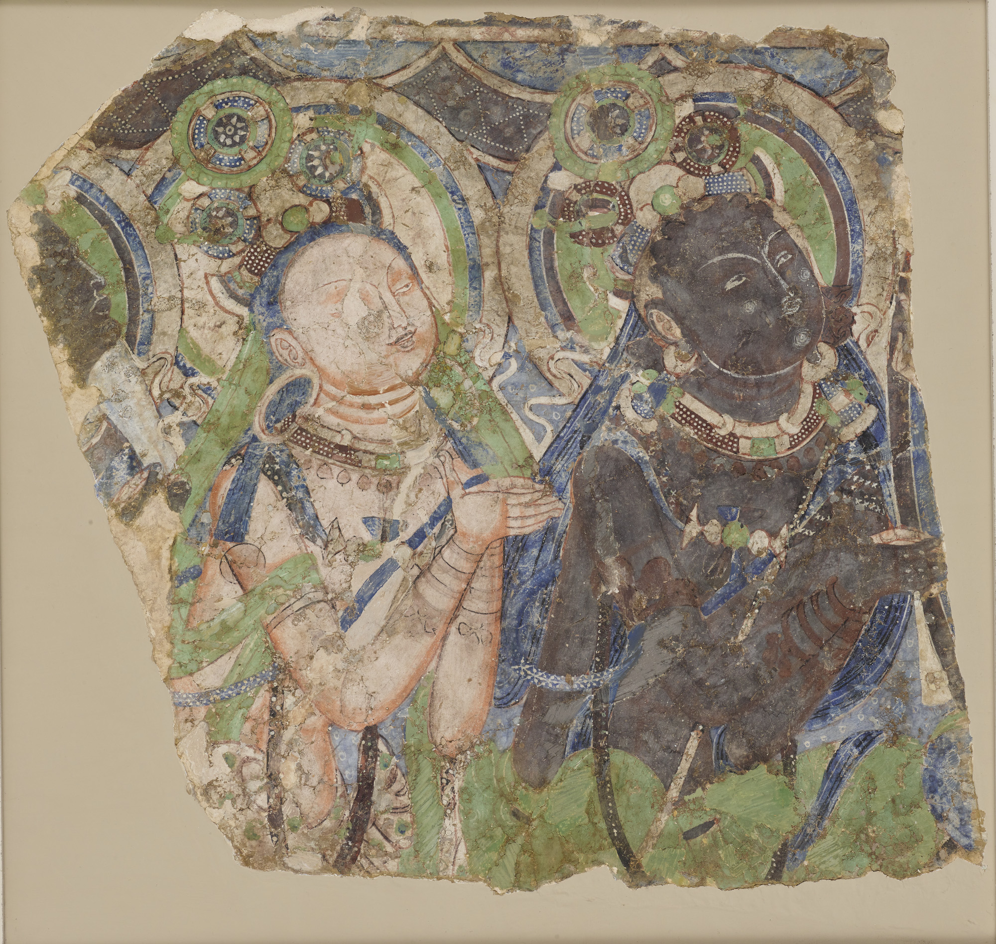 Idp newsletter issue no 4950 fragment of a wall painting showing bodhisattvas now in the freer sackler galleries probably from kucha see p5 c4th6th c arthur m sackler gallery fandeluxe Choice Image