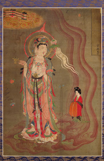Dunhuang painting showing Boddhisattva, guide of souls.