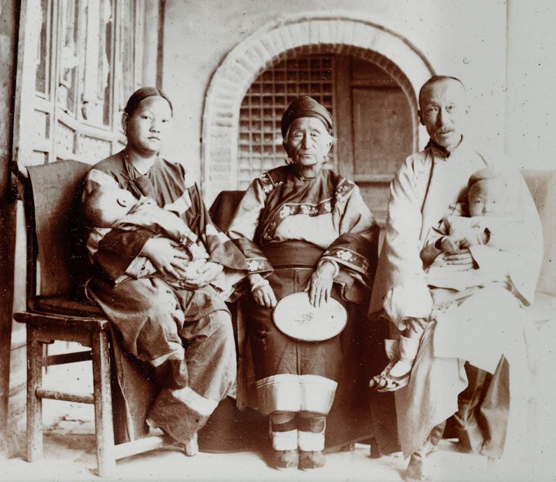 Magistrate Wang and his family.