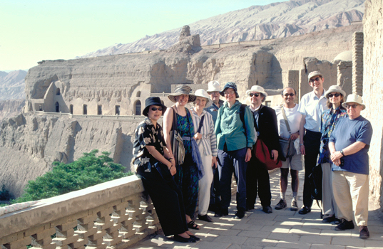 IDP patrons and friends at Bezeklik on the 1999 Silk Road tour.