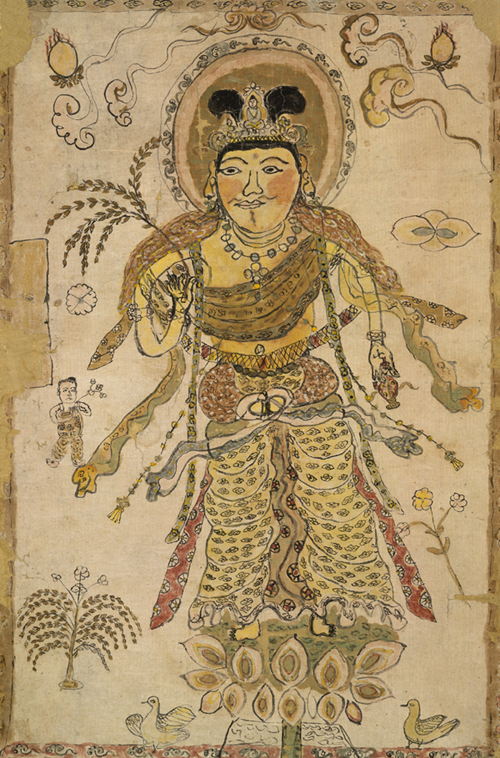 Child's painting of Avalokiteśvara.